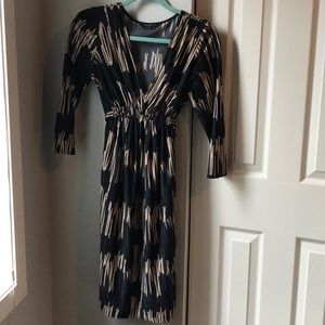 BCBGMaxAzria Dresses - BCBG MaxAzria Belted Midi Dress - Medium Petite